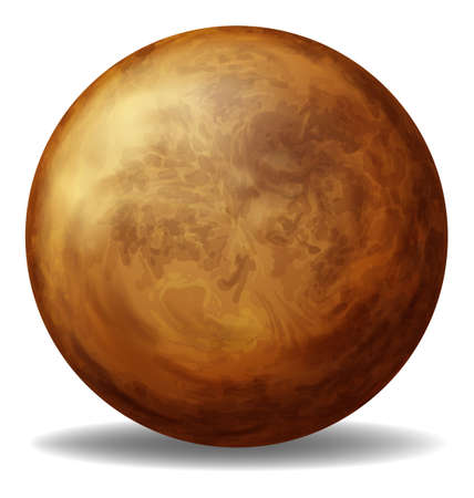 bounces: Illustration of a brown ball on a white background