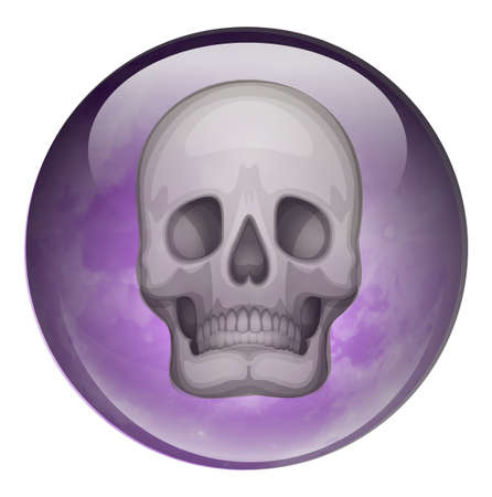 Illustration of a ball with a skull on a white background Stock Vector - 23977600