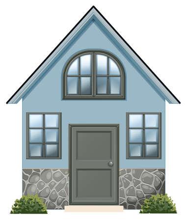 detached: Ilustraci�n de una simple casa unifamiliar en un fondo blanco Vectores
