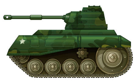frontline: Illustration of a military tank on a white background