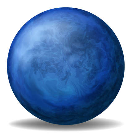 circumference: Illustration of a blue ball on a white background Illustration