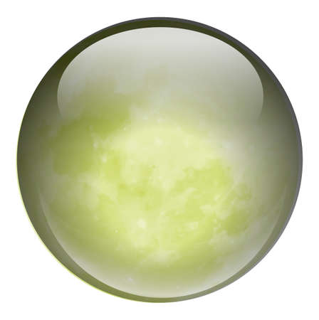 ovoid: Illustration of a green ball on a white background