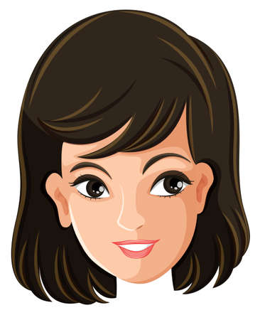 Illustration of a females face on a white background