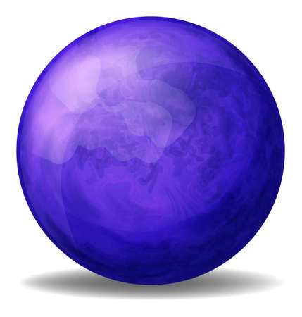 bounces: Illustration of a dark blue ball on a white background
