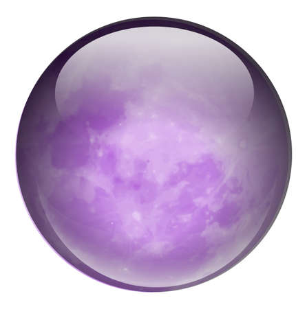 bounces: Illustration of a round purple ball on a white background