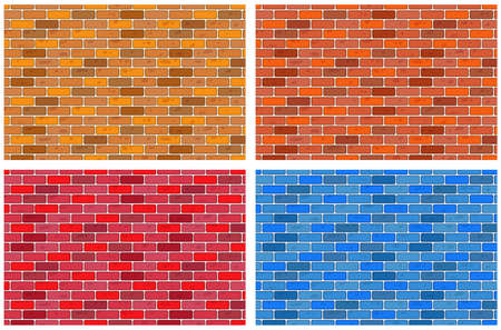 tactile: Illustration of the brick textures Illustration