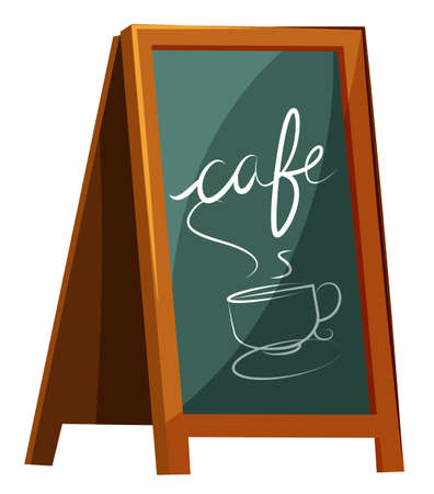 Illustration of a cafe signage on a white background Illustration