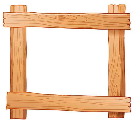 panelling: Illustration of a wooden fence on a white background