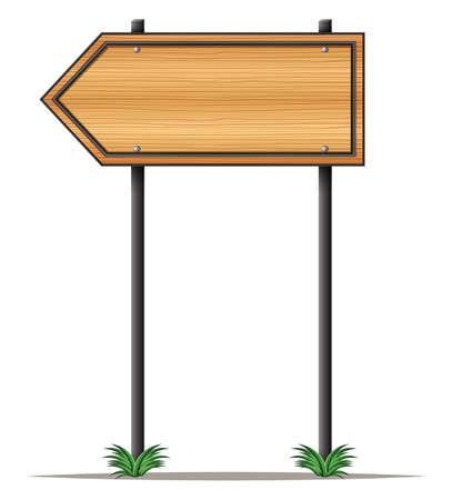 plant stand: Illustration of an empty arrowboard on a white background