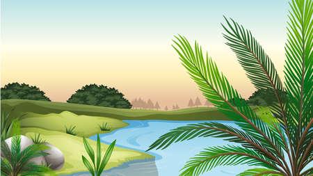 Ilustración de los recursos naturales Ilustración de vector