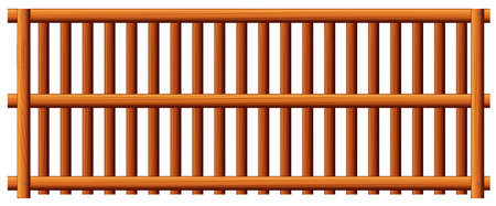 panelling: Illustration of the fence on a white background