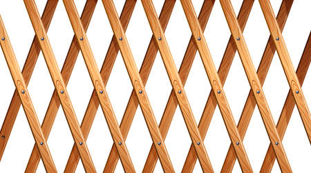 boundaries: Illustration of a wooden fence on a white background