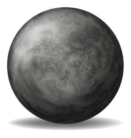 Illustration of a gray round ball on a white background Illustration