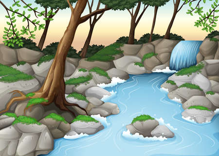 Illustration of an ecosystem Vector
