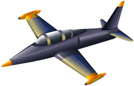 the air attack: Illustration of a fighter jetplane on a white background
