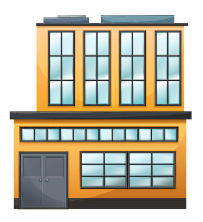 drawing safety: Illustration of a big building on a white background