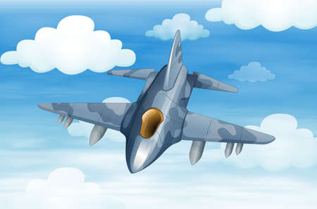 conventional: Illustration of a military aircraft in the sky