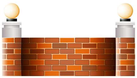 abatjour: Illustrazione di un muro con paralumi su uno sfondo bianco