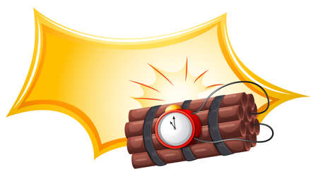 penetration: Illustration of a bomb with a timer on a white background Illustration