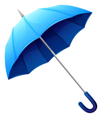 handheld device: Illustration of a blue umbrella on a white background