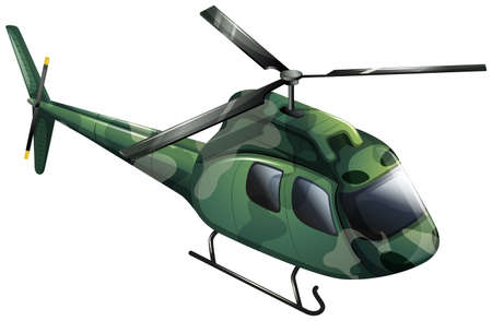 military aircraft: Illustration of a military chopper on a white background