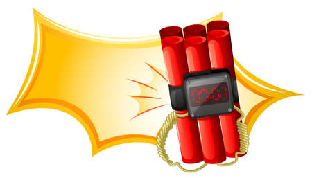 warheads: Illustration of an explosive weapon with a timer on a white background Illustration