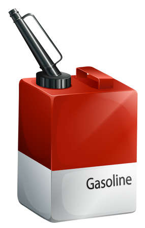 refilling: Illustration of a gasoline container on a white background