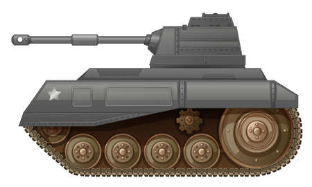 armoured: Illustration of an armoured fighting vehicle on a white background