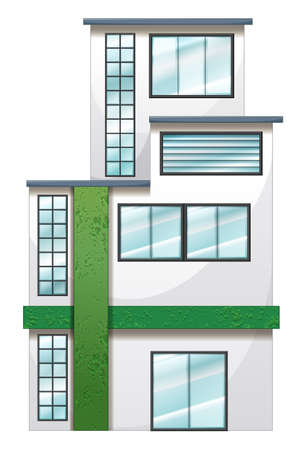 civil engineers: Illustration of a tall establishment on a white background