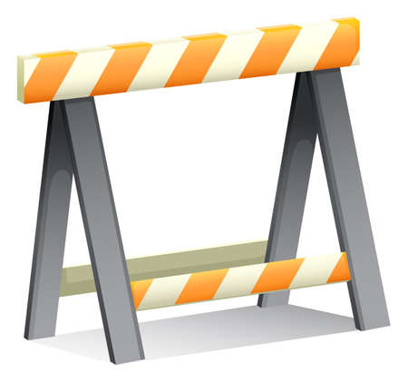 construction barrier: Illustration of an under construction sign on a white background