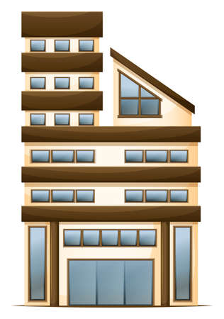 occupancy: Illustration of a multi-story building on a white background Illustration