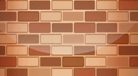 panelling: Illustration of a brown stonewall