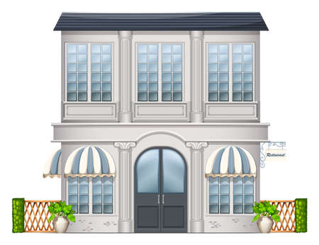 Illustration of a big building on a white background Vector