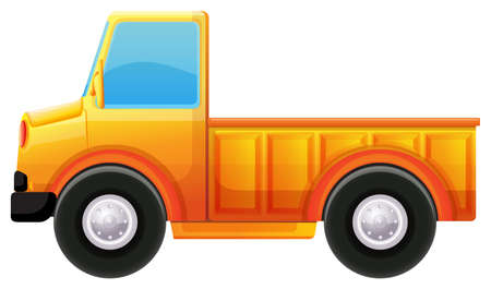 kinetic: Illustration of a yellow truck on a white background