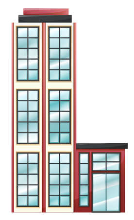 occupancy: Illustration of a high business establishment on a white background Illustration