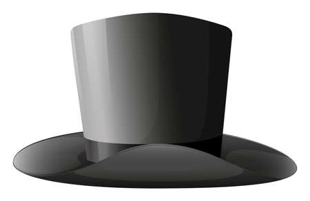 Illustration of a gray hat on a white background Vector
