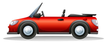 Illustration of a red sports car on a white background Illustration