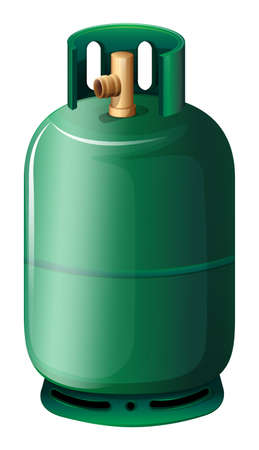 Illustration of a gas cylinder on a white background
