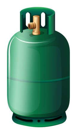 pressure bottle: Ilustraci�n de una botella de gas sobre un fondo blanco