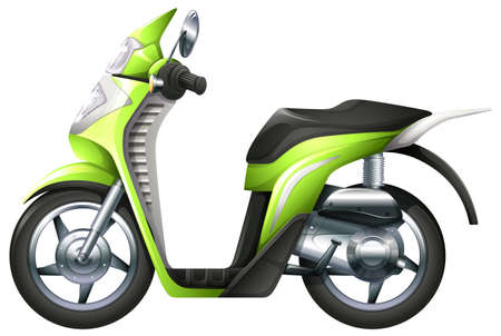 cruising: Illustration of a scooter on a white background