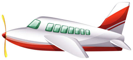 jetplane: Illustration of a plane on a white background