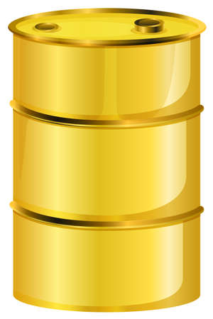 oil barrel: Illustration of a yellow oil barrel on a white background