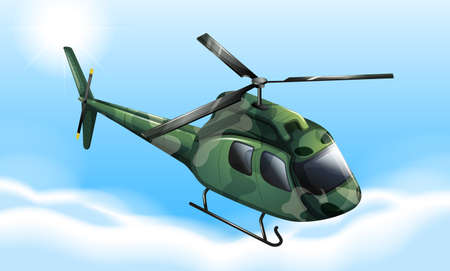 manmade: Illustration of a military chopper