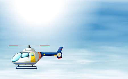 manmade: Illustration of a chopper in the sky