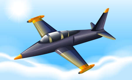 vehicle combat: Illustration of a fighter jet flying