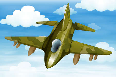 Illustration of a military fighter jet Stock Vector - 25529610