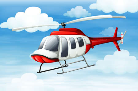 manmade: Illustration of a helicopter flying