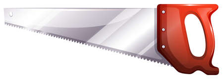 back and forth: Illustration of a saw on a white background Illustration