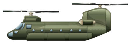 Illustration of a rotorcraft on a white background Vector