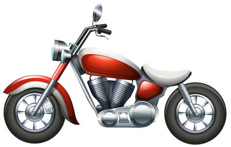 Illustration of a two-wheeled transportation on a white background Vector